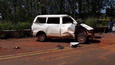 Tres heridos en accidente sobre la Ruta PY05