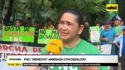 """FNC molestos con """" Nenecho"""" por amenaza de desalojo"""