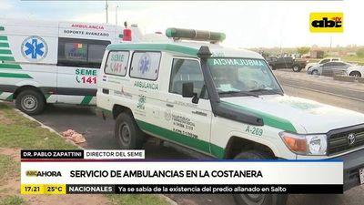 Servicio de ambulancias en la costanera