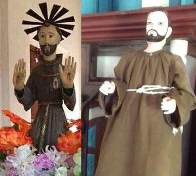 Roban santo de una capilla y dejan réplica en reemplazo