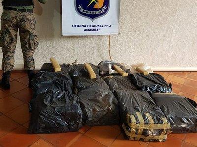 Hallan 321 kilos de marihuana en Pedro Juan Caballero