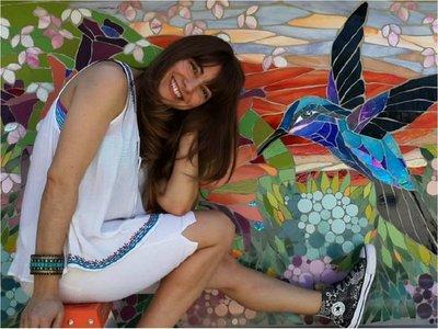 """Amorina Viladesau: """"Hacer un mosaico es  crear una melodía"""""""