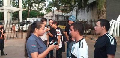 Fiscalía demora a 40 personas tras el partido de Olimpia ante 12 de Octubre