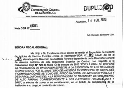 Contraloría denunció a cinco municipios por irregularidades