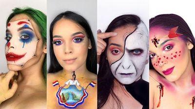 Con colores y mano maquilladora, una joven hace del make up un arte