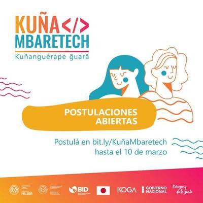 Invitan a participar de la convocatoria de Hackathon Kuña Mbaretech