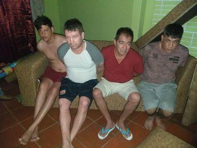 Detienen a peligroso delincuente y cómplices en allanamiento