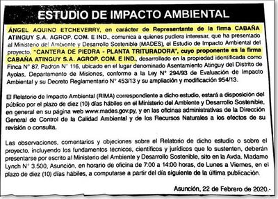 Consejero de Itaipú podría ser un proveedor de Yacyretá en Aña Cua