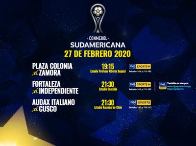 Cierran la primera fase de la Copa Sudamericana
