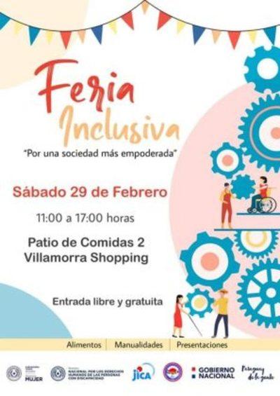 Gran feria inclusiva de artesanías este sábado en Villa Morra