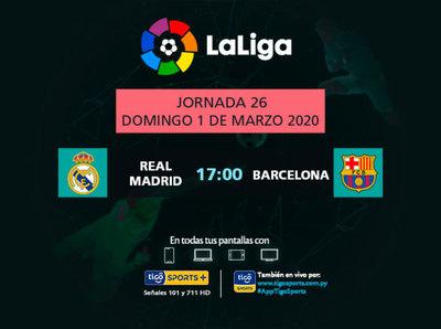 Imperdible duelo entre Real Madrid y Barcelona