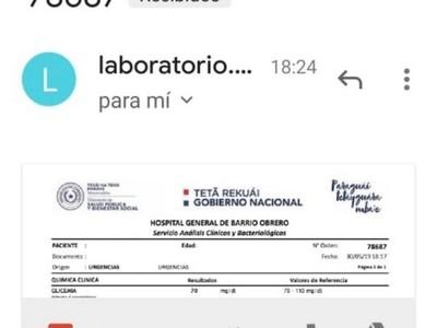 Implementan entrega de resultados laboratoriales vía e-mail en hospitales públicos