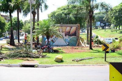Inauguran el polémico mural en homenaje al Mariscal López en CDE