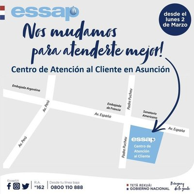 ESSAP habilita nuevo Centro de Atención a clientes