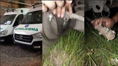 Salud agoniza: ambulancias se caen a pedazos y habría desvío de fondos del SEME