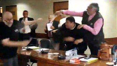 Vergonzosa pelea en Senado
