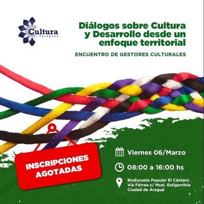 Harán encuentro nacional sobre cultura y desarrollo sostenible en Areguá