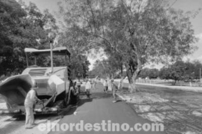 En la ciudad de Concepción reparan y asfaltan avenida que conecta el Batallón de Marina con el Aeropuerto