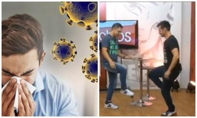 "Ante Coronavirus, panelistas de tv proponen un ""saludo alternativo"""