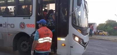 Coronavirus: Realizan controles sanitarios en transportes públicos