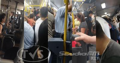 Transportistas desacatan medidas de prevención y pasajeros viajan parados