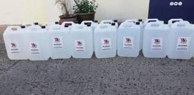 Coronavirus: Petropar dona 10.000 litros de alcohol diluido