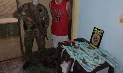 SENAD detuvo a un supuesto microtraficante en San Ignacio Misiones