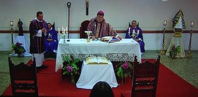 A puertas cerradas: la misa de Caacupé en tiempo de cuaresma y de coronovirus