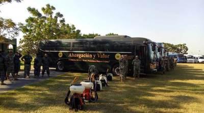 Buses de las Fuerzas Armadas ayudarán al transporte de pasajeros para evitar aglomeraciones