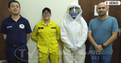 Entregaron uniforme de protección personal a Bomberos azules y amarillos de Encarnación