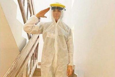 Esposa de diputado es criticada por usar traje especial en plena crisis