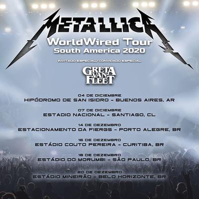 Metallica anuncia fechas reprogramadas para Sudamérica