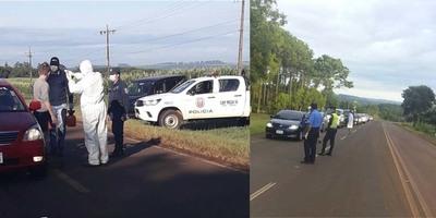 PROSIGUEN LAS BARRERAS SANITARIAS EN LOS DIFERENTES ACCESOS AL DEPARTAMENTO DE ITAPÚA
