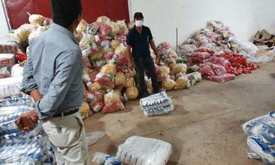 Entregan víveres a familias vulnerables en Concepción.