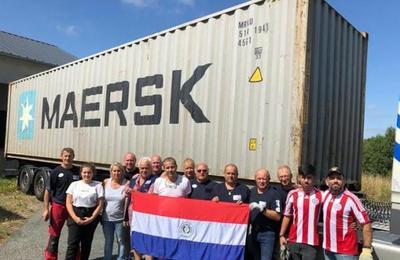 Organización Francesa de Bomberos Rescatistas donó insumos para hospital y Compañías del interior del país