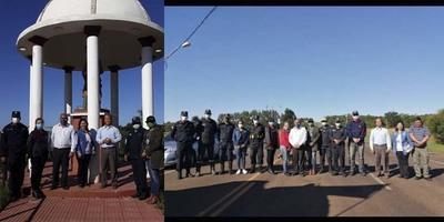 MISA DURANTE CONTROLES EN ACCESO SAN PEDRO DEL PARANÁ.