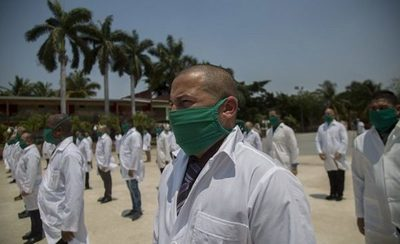 Un nuevo equipo médico cubano llega a Italia para ayudar ante pandemia