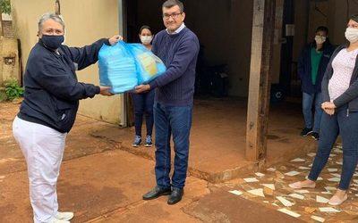 Fundación entrega equipos de seguridad a USF de Franco