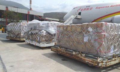 Avión con insumos médicos de China llegará el viernes: antes hará escala en EEUU
