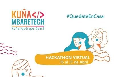 Hackathon Kuña Mbaretech arranca de forma virtual este miércoles
