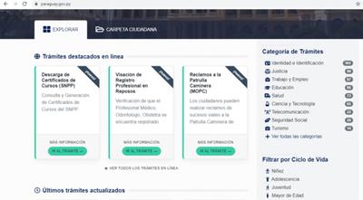 Aumento de trámites en línea a través del Portal Paraguay