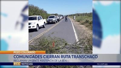 POZO COLORADO: Comunidades indígenas cierran ruta y solicitan al Gobierno asistencia inmediata