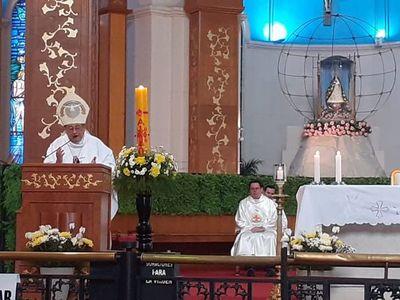 "Obispo de Caacupé sobre la pandemia: ""Que lo que está pasando nos sacuda por dentro"""