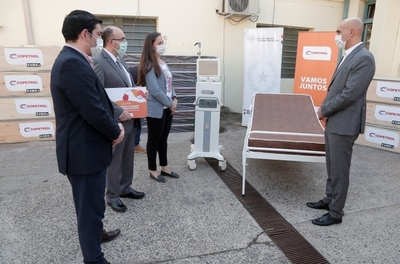 Copetrol donó un ventilador pulmonar de alta tecnología y 100 camas con colchones a Salud
