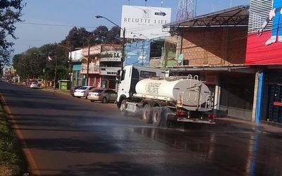 Continúan trabajos de limpieza y desinfección de espacios públicos de CDE