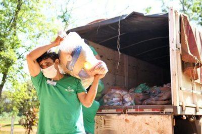 Itaipu intensifica entrega de víveres en Alto Paraná