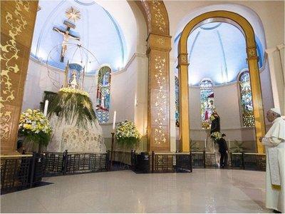 El Papa bendijo al Paraguay y pidió la protección de la Virgen de Caacupé sobre toda la nación