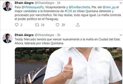 Efraín Alegre llamo de MAFIOSO a Ulises Quintana
