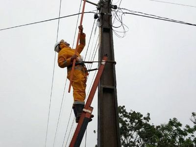 Zonas de Asunción y Central sin energía eléctrica por fuertes vientos