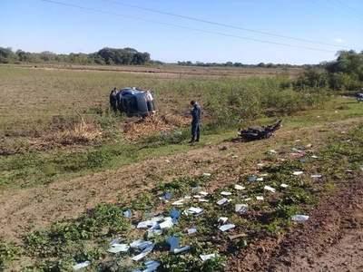Colisión fatal en Ñeembucú, falleció un motociclista